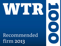 WTR 1000 2013 Recommended firm